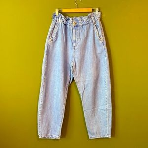 ZARA Jeans elastic, ,high waisted,loose-fitting 8